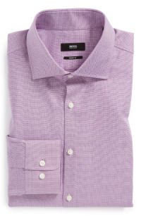 Hugo Boss Purple Dress Shirt
