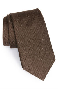 Brown Michael Kors Woven Silk Tie