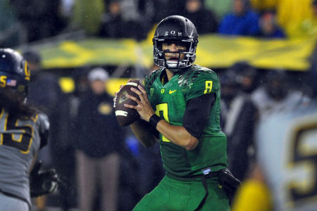 Marcus Mariota played in a spread offense at Oregon