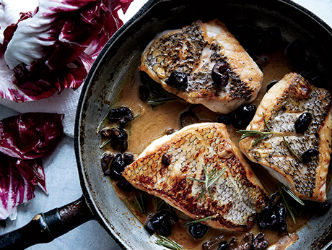Rosemary-Olive Black Bass Filets